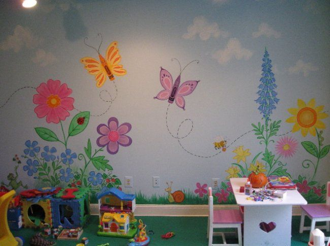 Best 25 garden mural ideas on pinterest for Children wall mural ideas