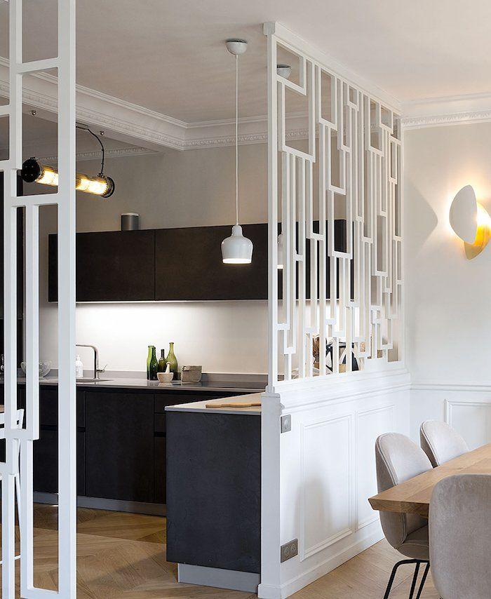 Visites en 2019 | Deco | Separation cuisine salon, Idée déco cuisine ...