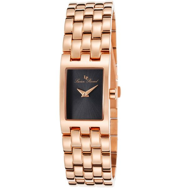 Lucien Piccard Lucien Piccard Women's Kensington Rose-Tone Stainless... (£83) ❤ liked on Polyvore featuring jewelry, watches, gold, rose watches, water resistant watches, lucien piccard jewelry, lucien piccard watches and stainless steel jewelry
