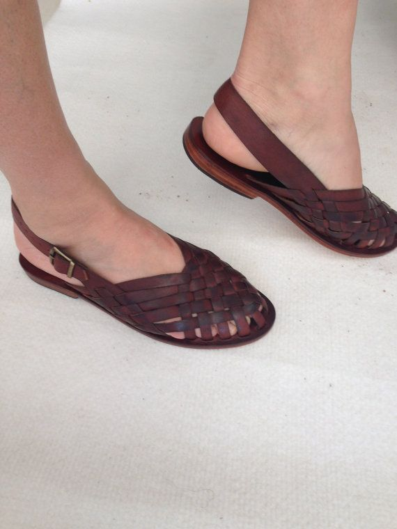 AEGINA: Woven Leather Buckle Sling Back Mule by BODRUMSANDALS