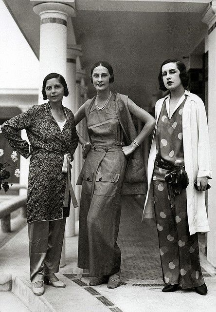 Schiaparelli fashions, 1929   (by thefoxling, via Flickr):