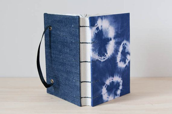 Hippie Journal. Unlined Notebook. Indigo Blue Travel Journal / Diary by Mettaville