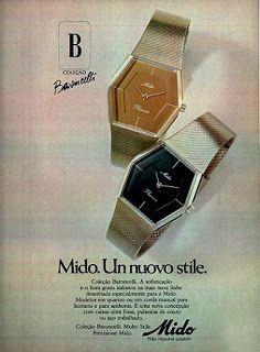 anuncio relogios mido - 1977