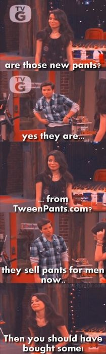 lol Sometimes even Carly is insensitive to Freddie like Sam is!