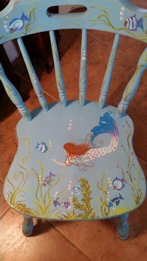 Mermaid hand painted K Taylor