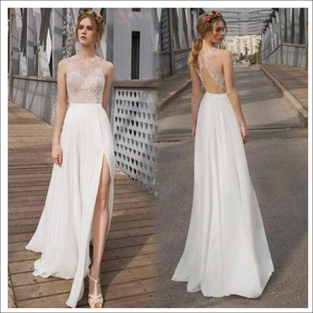 The 25 best simple beach wedding dresses ideas on pinterest 35 simple white wedding dresses beach junglespirit Image collections