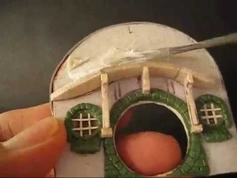 ▶ Quicktips 4-Making a Hobbit Hole(Bilbo's Bag End) - YouTube for 28mm miniature step by step - note first few seconds of video are filmed upside down.