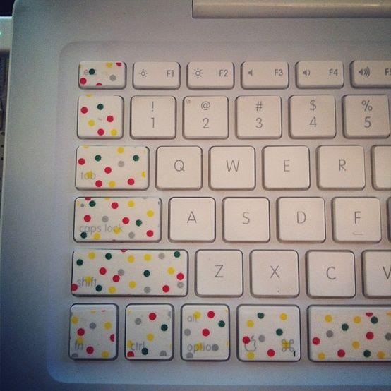 The Crafty Collegiette : Crafternoon: Washi Tape Keyboard