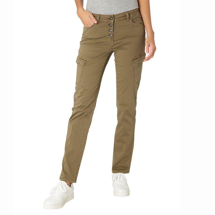 Takko Damen Slim Fit 5-Pocket-Cargohose Hose Freizeithose Cargotaschen khaki NEU in Kleidung & Accessoires, Damenmode, Hosen | eBay!
