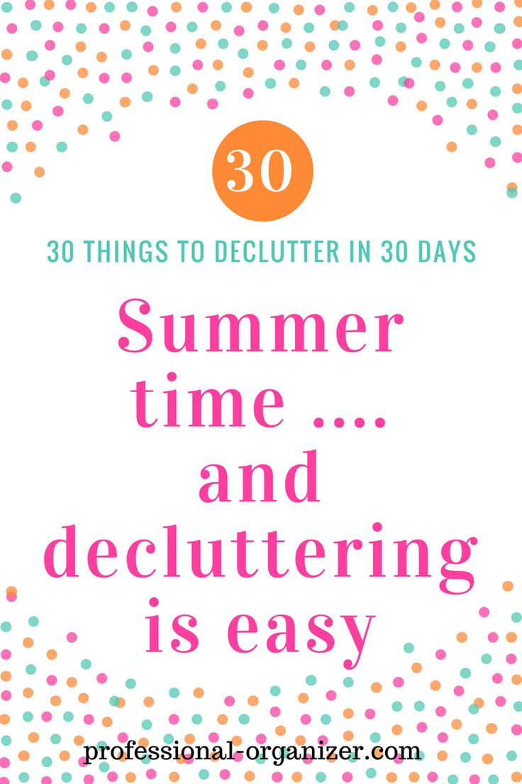 30 things to declutter in 30 days