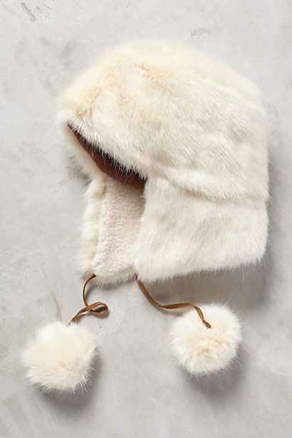 Nieve Faux-Fur Trapper #anthropologie  For some strange reason, this is appealing to me. Looks warm and snuggly.