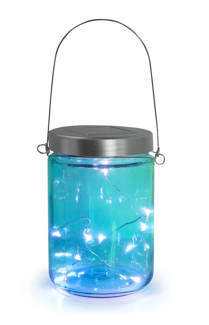 Turquoise Solar Jar Light