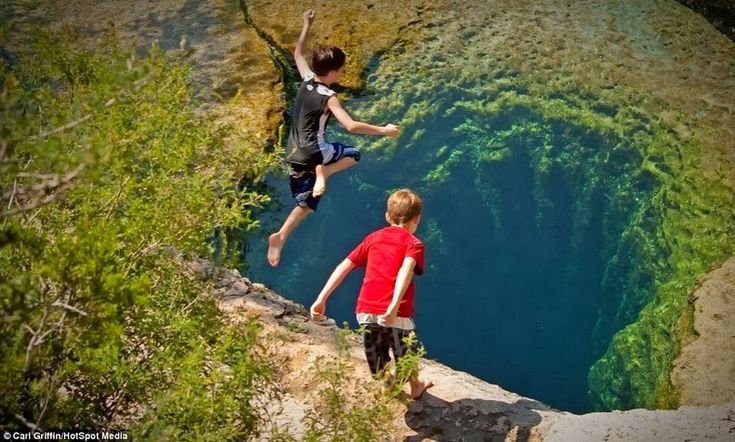 The largest underwater cave in Texas has been known to swallow people whole, it has also provided a nearly non-stop source of water for thousands of years. Jacob's Well is an amazing sight to see, as the water from deep within the well pools out into a natural spring that runs off into Cypress Creek.