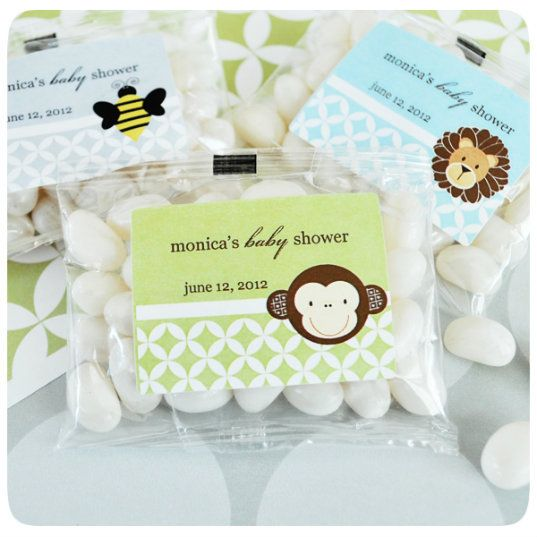 Personalized Baby Animal Jelly Bean Favors