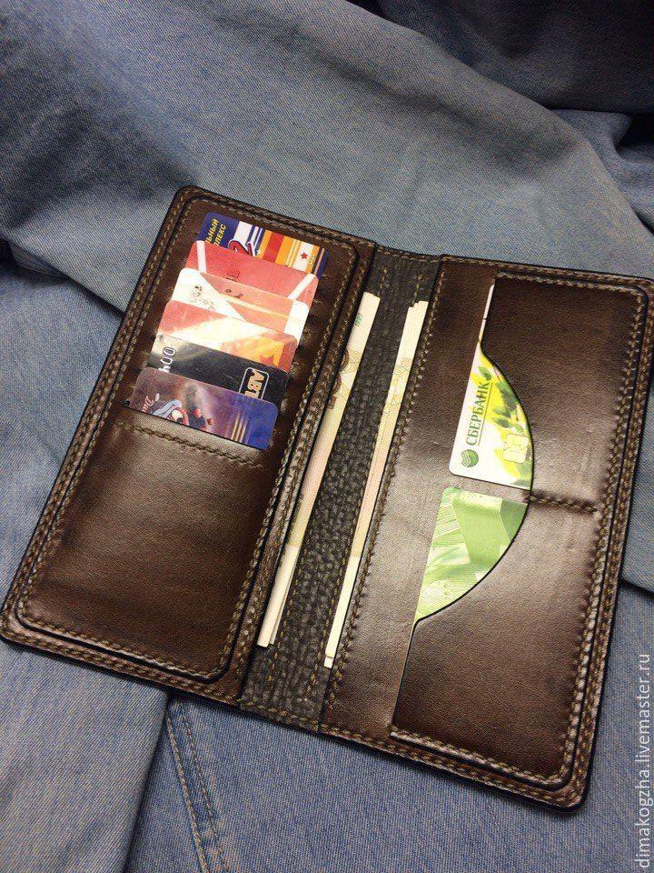 Кошельки и визитницы ручной работы. кошелек для карт и купюр. Dima. Ярмарка  Мастеров 6522d5c5842