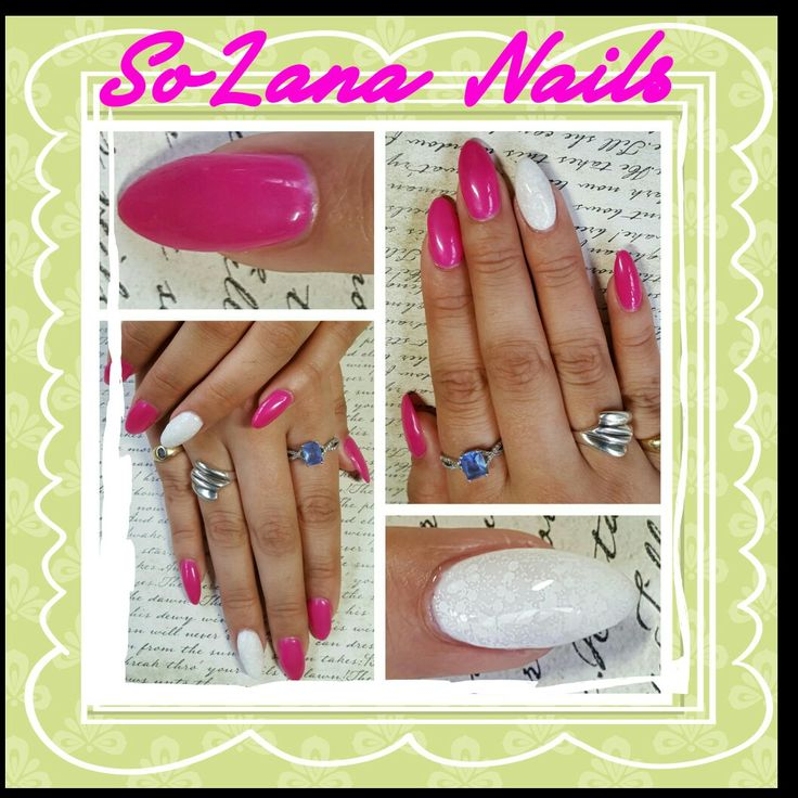Hot pink and white lace