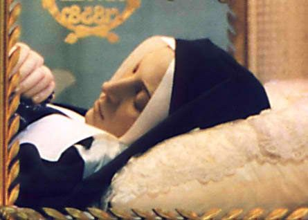 At the young age of 35 years, on April 16, 1879, St. Bernadette died an  agonizing death from tuberculosis of the bone. She was canonized by Pope  Pius XI on ...