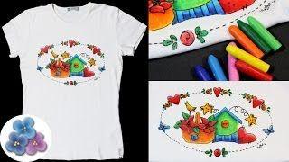 pintar camisetas con crayolas - YouTube