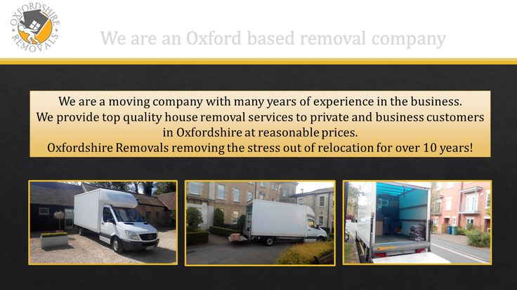 Oxford based Removal Company