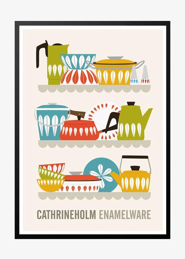 Retro plakat: Cathrineholm Enamelware