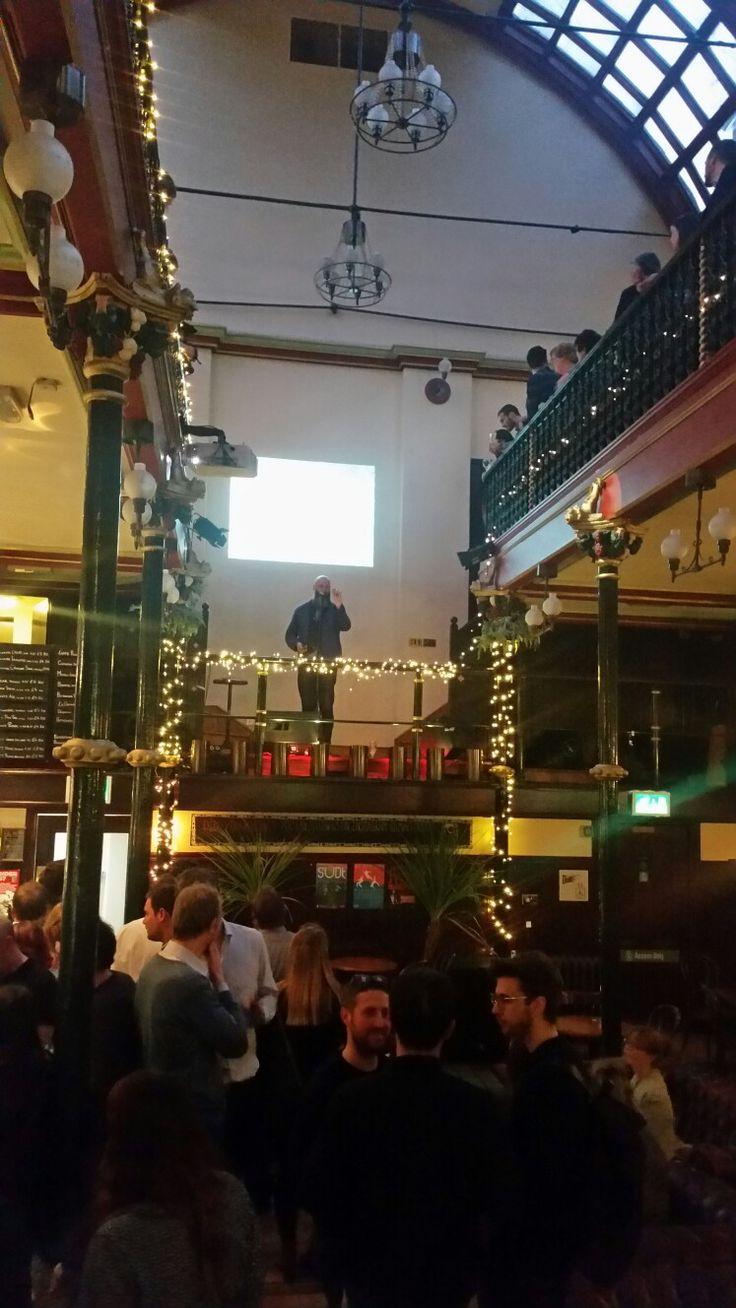 Artist Wolfgang Butress giving a talk at Malt Cross Nottingham