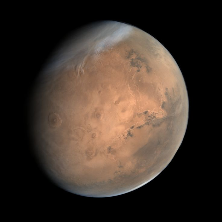 True-color image of Mars acquired by India's Mars Orbiter Mission