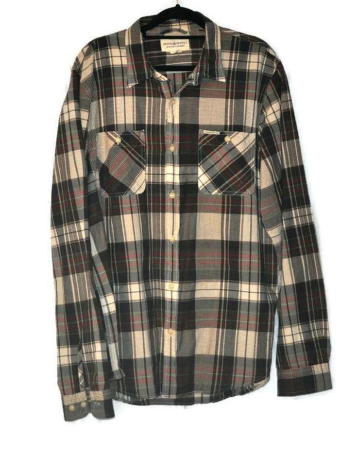 Denim & Supply RALPH LAUREN Plaid Oxford Shirt XL Mens Cotton Casual Long Sleeve #DENIMSUPPLYRALPHLAUREN #ButtonFront