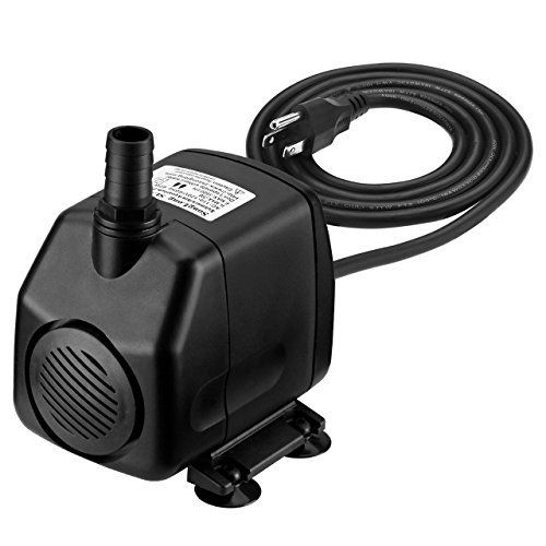 Homasy 920GPH Submersible Water Pump with 5 9ft (1 8M) Power Cord, 2