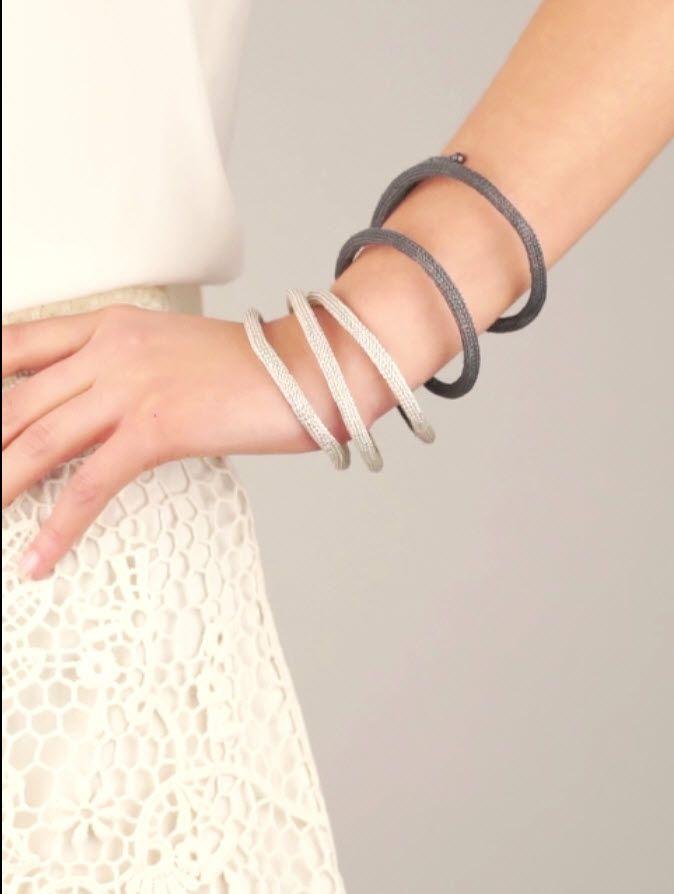 Итальянский плетеный посеребренный браслет от Milena Zu