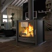 Lovely Double Sided Wood Burning Fireplace #2 Double Sided Wood Burning Stove
