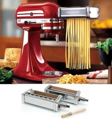 Cheap KitchenAid Kpca 2pc Stainles Steel Pasta Angel Hair Cuter Stand Mixer Attachment on sale