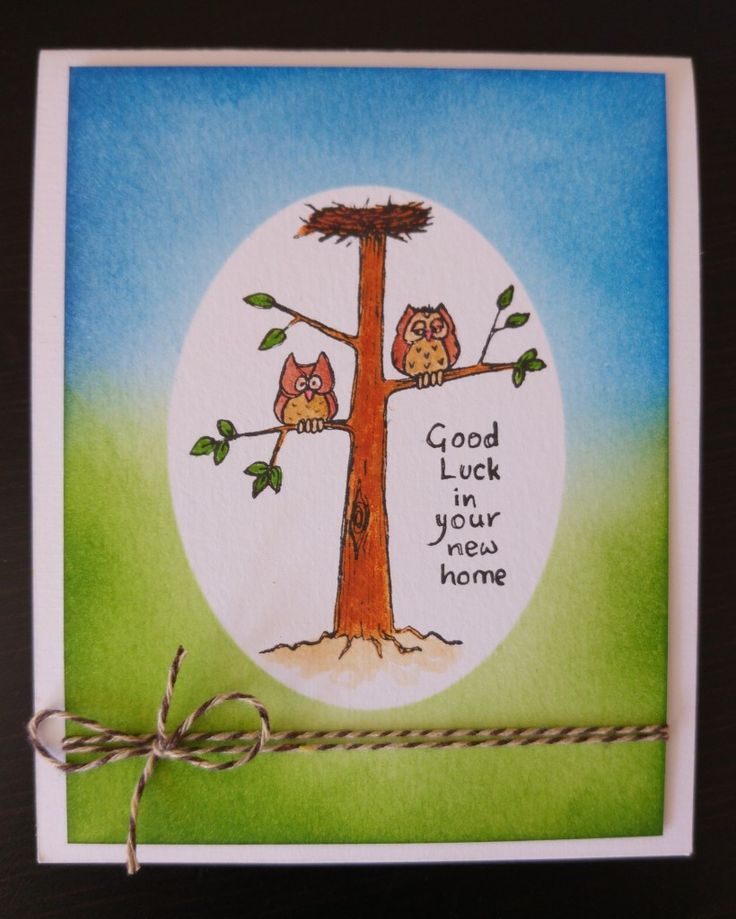 Craft blog. Card Making. Handmade Good Luck in your new home. See How To Make and products used at The Good Craft Shop.