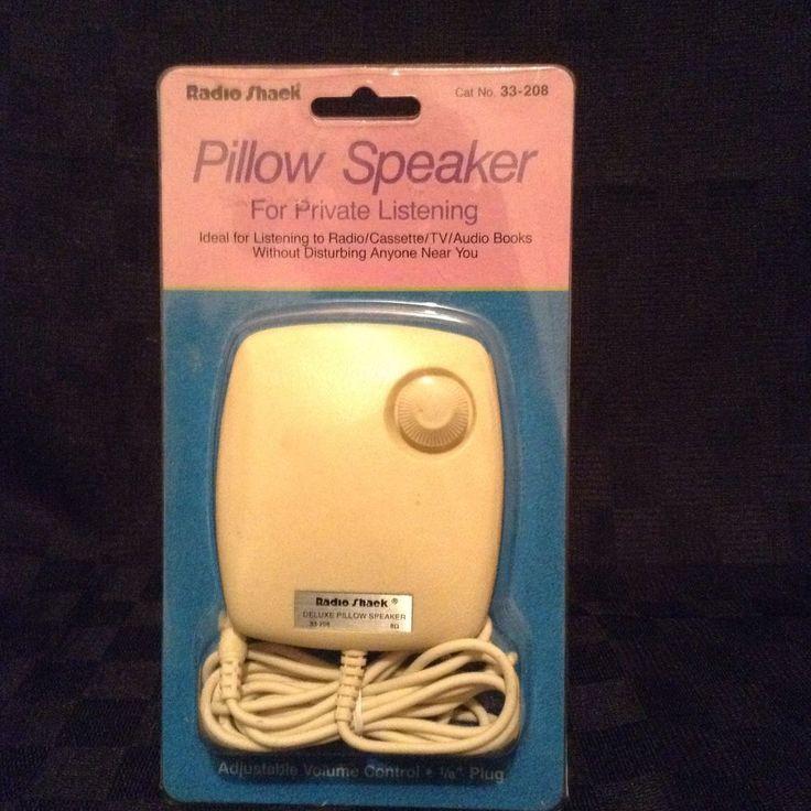 Vintage radio shack pillow speaker 33 208 listen enjoy for Music speaker pillow