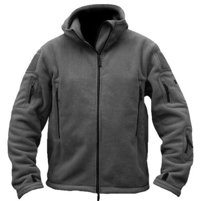 Winter Fleece Jacket Coats Military Man Fleece Tactical Jacket Polartec Thermal Polar Hooded Coat Outerwear Army Clothes Hot