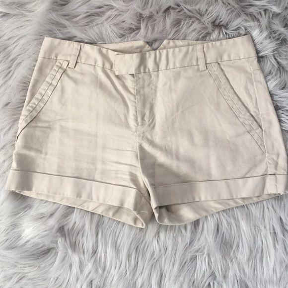 Armani Exchange Shorts Khaki Armani Exchange shorts size 2.  Barely worn!  (Wrinkles are just from being folded and laying on the bottom of my closet shelf) Armani Exchange Shorts