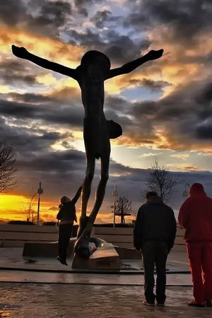 As you climb Cross Mountain, you pass through all the stations of the cross. Medjugorje, Bosnia and Herzegovina