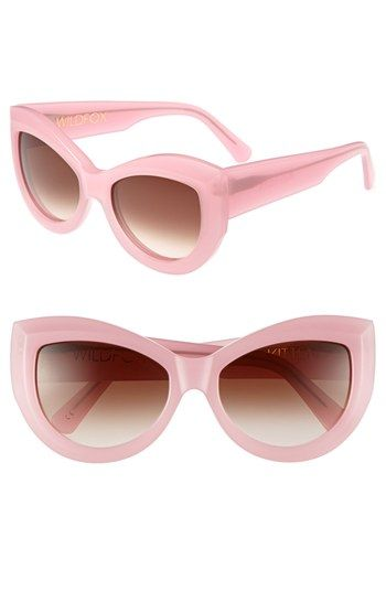 $179, Kitten 56mm Sunglasses Pink One Size by Wildfox. Sold by Nordstrom. Click for more info: http://lookastic.com/women/shop_items/64994/redirect