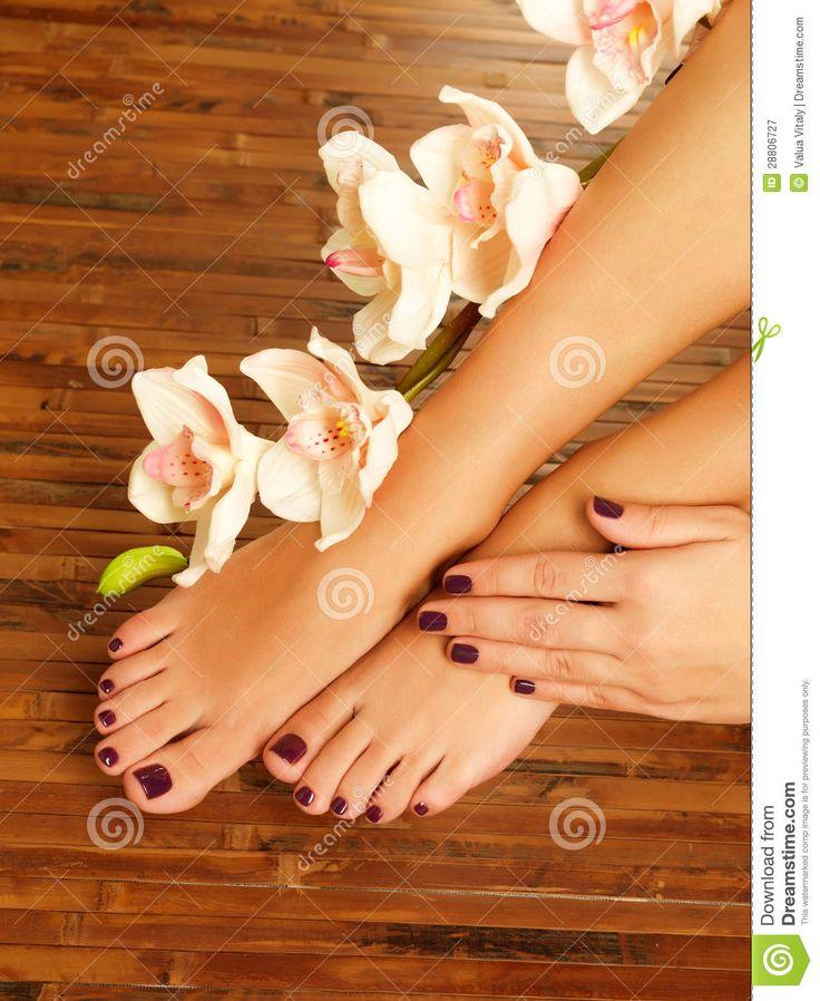 Luxury Spa Pedicure Area | ... Free Stock Photography: Female feet at spa salon on pedicure procedure