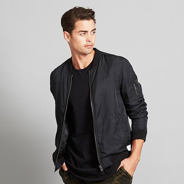 1000  images about Black Bomber Jacket on Pinterest | Black