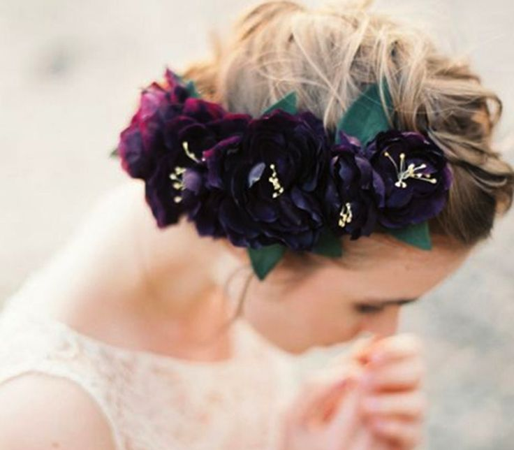 Big, bold and purple If you want to go all the way and express your fierce personality, opt for a big floral crown that's going to be a combination of simple yet vibrant flowers. Pink gerbera daisies, amaryllis, and lavender would make the perfect statement-making floral crown.