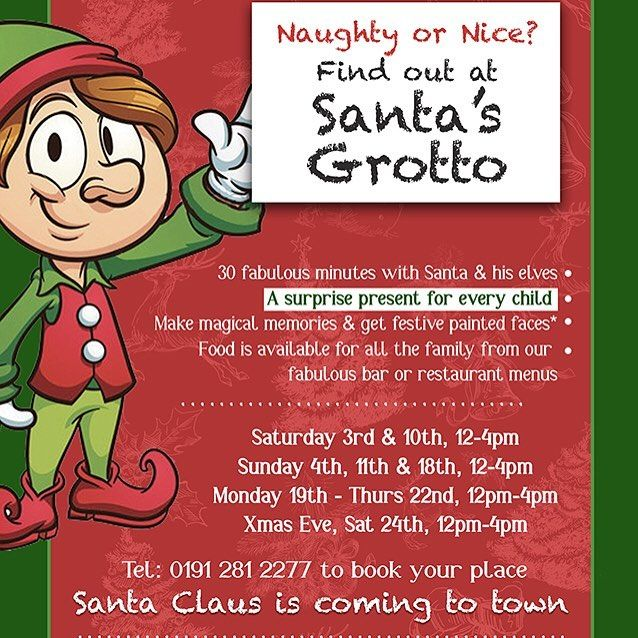 Not too early to start planning your Xmas festivities  bring the kids to our Santa's Grotto this year! #Newcastle #jesmond #northeast #nefollowers #nebloggers #ne1 #christmas #festivities #santa #santasgrotto #nechristmas