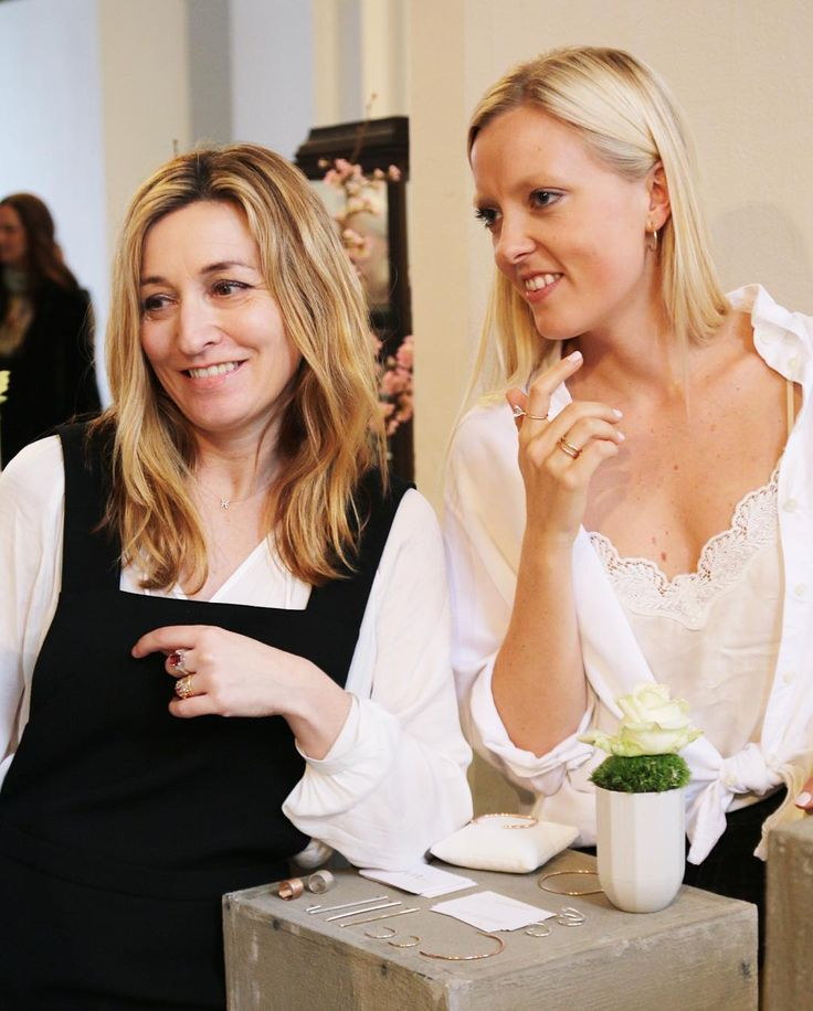 Martina Bonnier and Cecilia Kores at The Jewellery Room at  Copenhagen Fashion Week, Feb 2016. Fine jewellery by mumbaistockholm