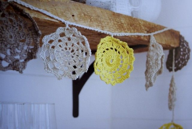 Doily Garland from Made by Hand Book
