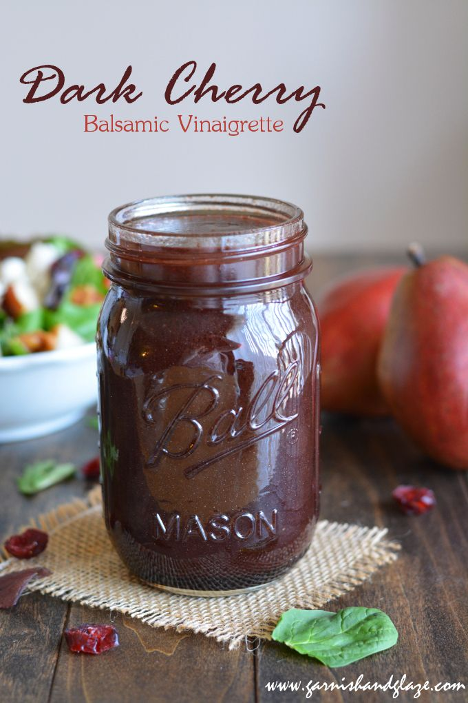 Pear & Walnut Salad with Dark Cherry Balsamic Vinaigrette