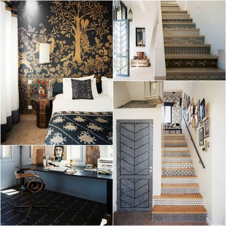 SO fab to see many of our stencil projects in the Lonny magazine House Tour with Maryam Montague of Peacock Pavilions!