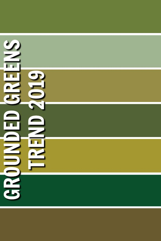 Grounded Greens / Trend 2019 | Trends 2019 | 2020 | Color ...