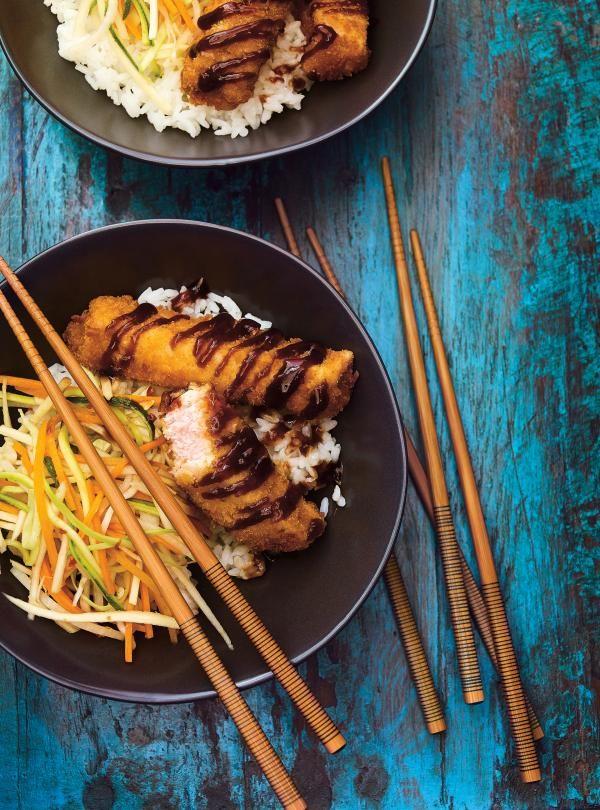 Recette de bol de riz au porc croustillant et aux légumes marinés de Ricardo