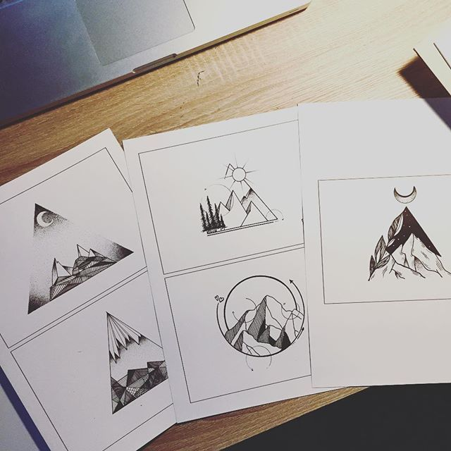 Preparing my flashbook for tomorrow! @marktvanmorgen #illustrator #illustration…
