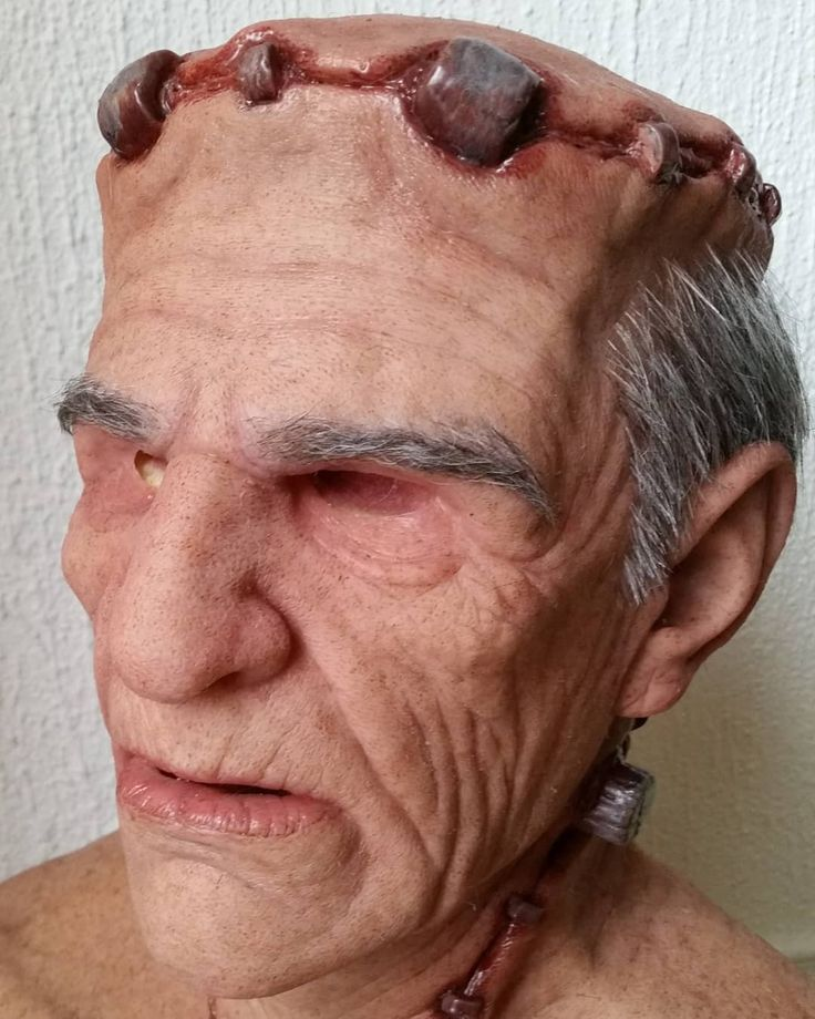 Something different! The Monster from @realfleshmasks  Get yours on www.realfleshmasks.com! #monster #halloweencostume #halloween #costume #frankenstein #masks #mask #siliconemask #silicone #hairpunching #hair #haircut #hairstyles #hairs #realisticmask #oldman #realistic #diy #collection #collectible