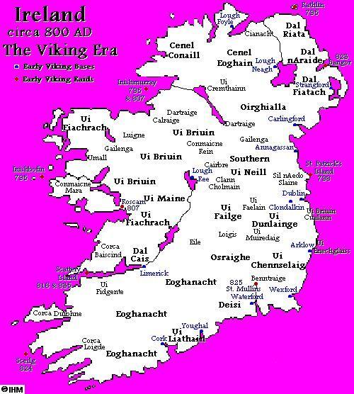 Map Of Ireland 800 Ad.The Vikings In Ireland Ireland S History In Maps 800 Ad British